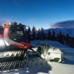 Snow groomer at Taos Ski Valley
