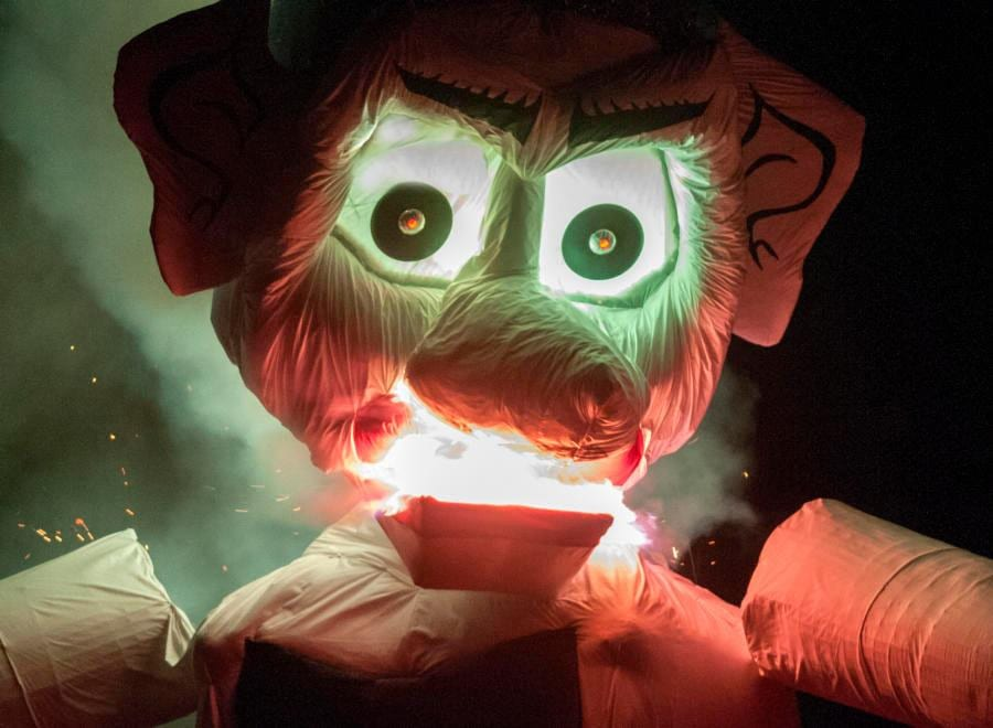 Zozobra close up
